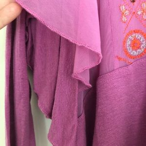Free People Tops - Free People Top Wisteria Blouse Fuchsia NWT